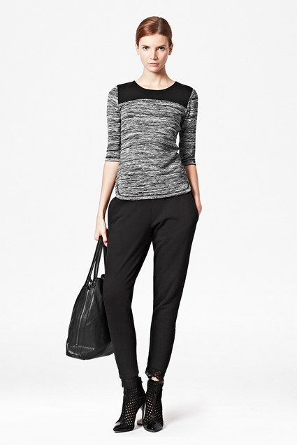 Kelby Lace Trim Leggings