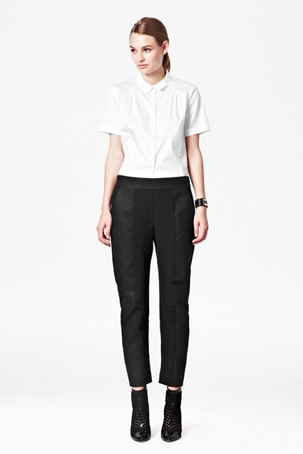 Vixen Contrast Panelled Trousers