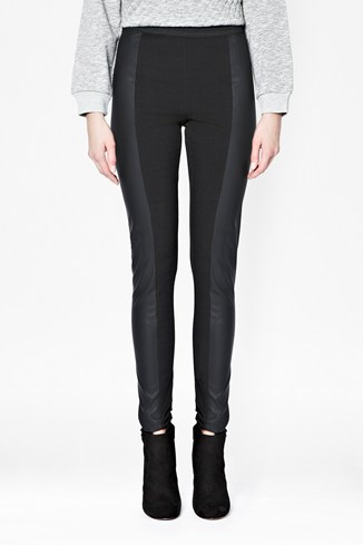 Linear Pu Panel Leggings