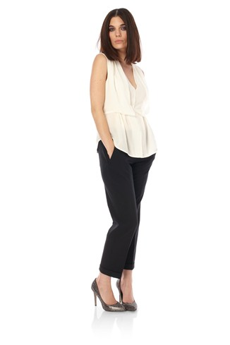 Amarello Stretch Cropped Trousers