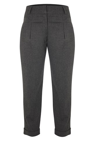 French Connection High Waisted Trousers Grey
