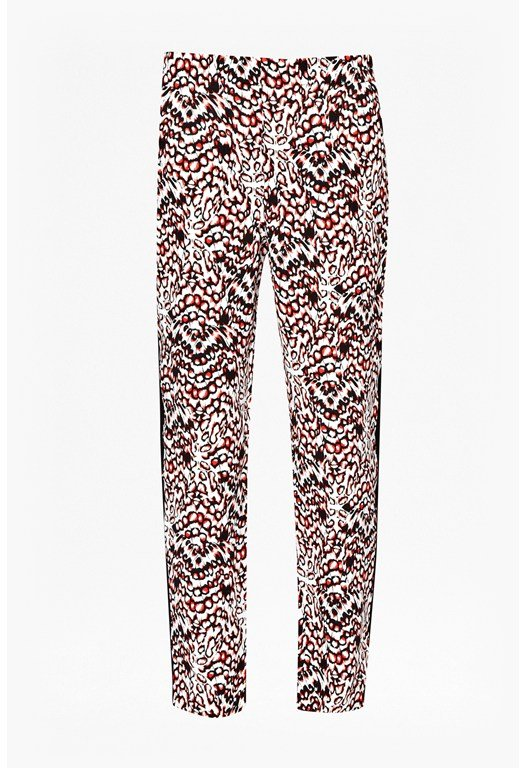 Leopard Moth Crepe Gathered Trousers