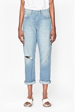 Looks Great With High Rise Boyfriend Jeans