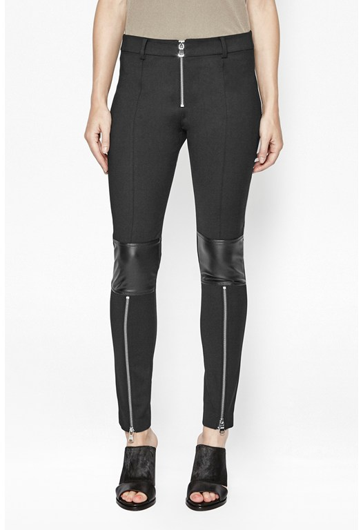 Glass Zip Up Leggings