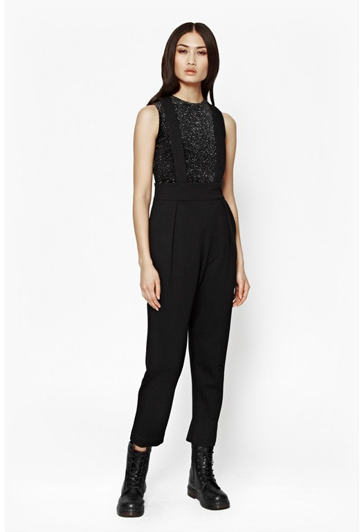 Lula Cropped Brace Trousers