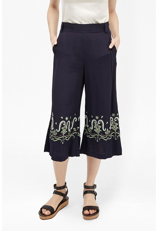 Casa Tile Embellished Trousers