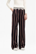 Looks Great With Freddy Stripe Coord Wide Leg Trousers