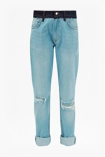 Looks Great With The Mashed Up Slim Boyfriend Jeans