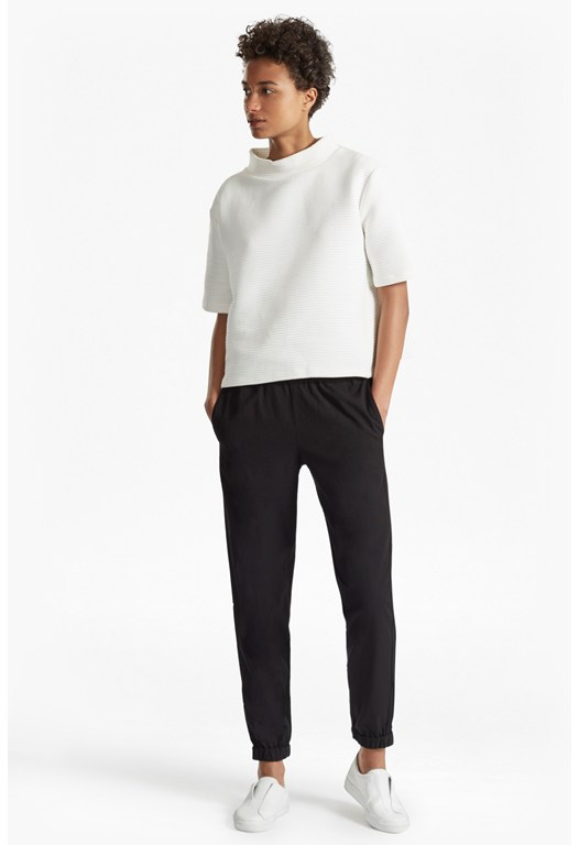 Dolly Drape Wool Blend Jogger Trousers