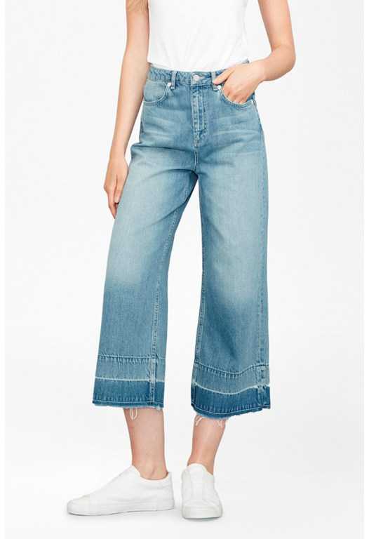 The Detroit Wide Leg Crop Jeans