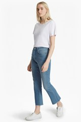 Ash Denim Cropped Kick Flare Jeans