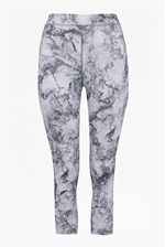 Looks Great With Comfort Stretch Marble Print Cropped Performance Leggings
