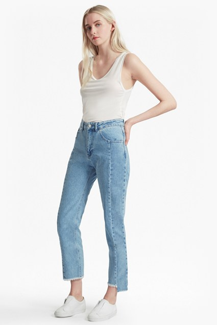 Remix Step Hem Straight Leg Jeans