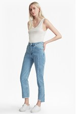 Looks Great With Remix Step Hem Straight Leg Jeans