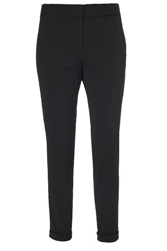 Slim Fit Trousers Black