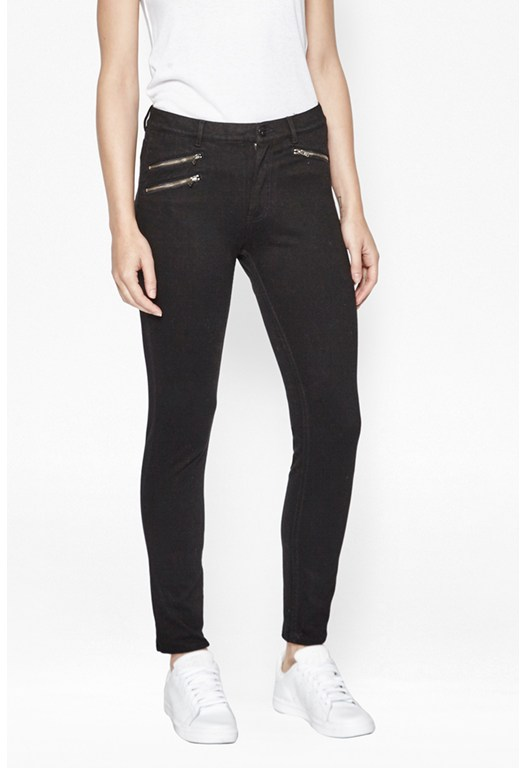 Lilly Denim Zip Skinny