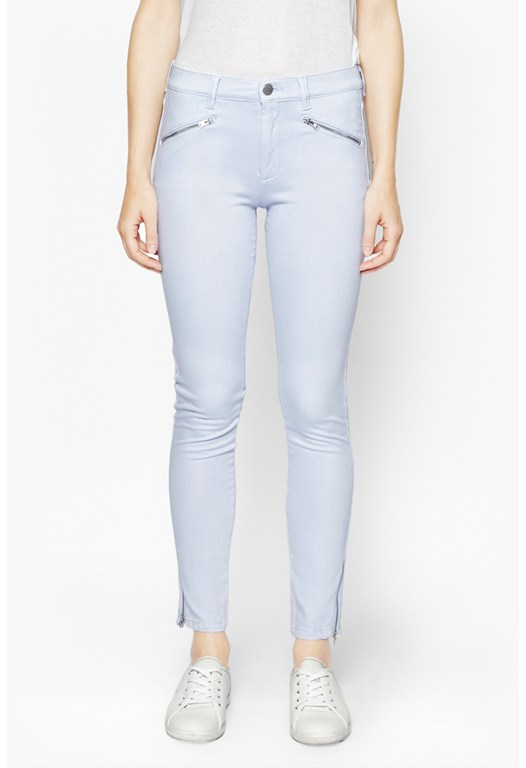 Crop and Zip Skinny Jeans