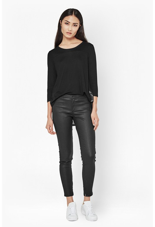 Metallic Coated Second Skin Leggings