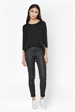 Looks Great With Metallic Coated Second Skin Leggings