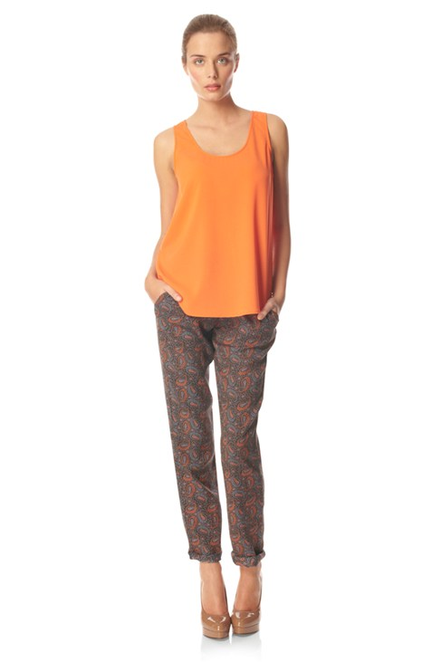 Poppy Paisley Tie Trousers