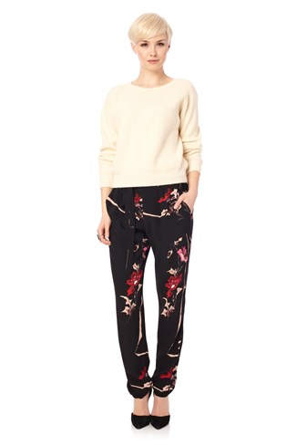 Anya Flower Tie Trousers