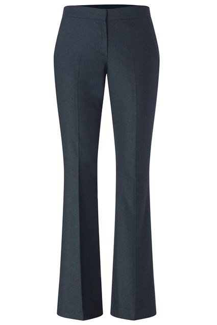 Berry Tweed Kick Flare Trousers