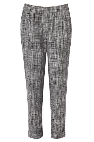 Texture Checked Peg Trousers
