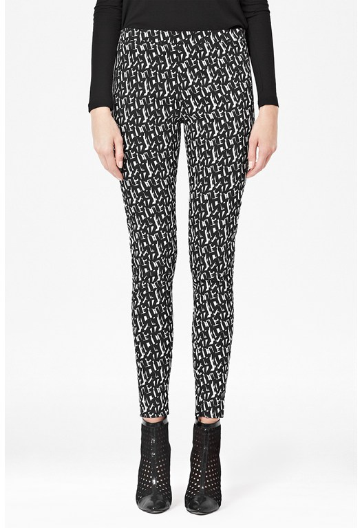 Mini Brushstrokes Skinny Trousers