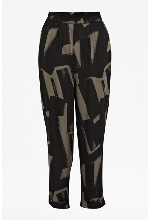 Big Brushstrokes Draped Trousers