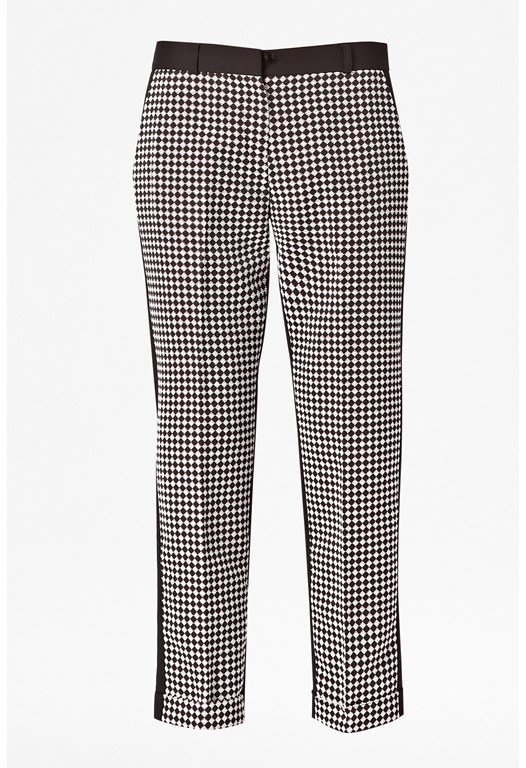 Diamond Jacquard Trousers