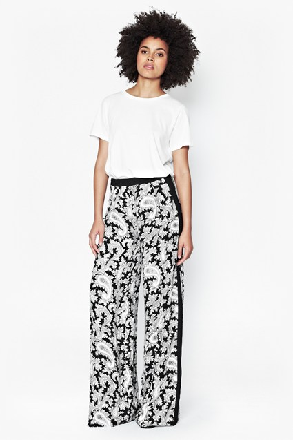 Paisley Party Wide Leg Trousers
