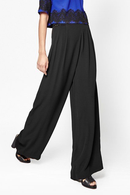 Emma Crepe Wide Leg Trousers