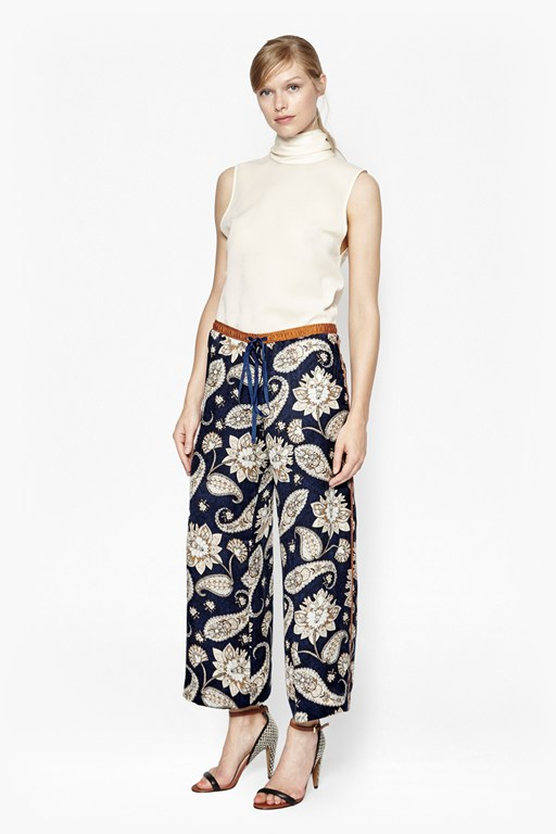 sundown silk flared trousers