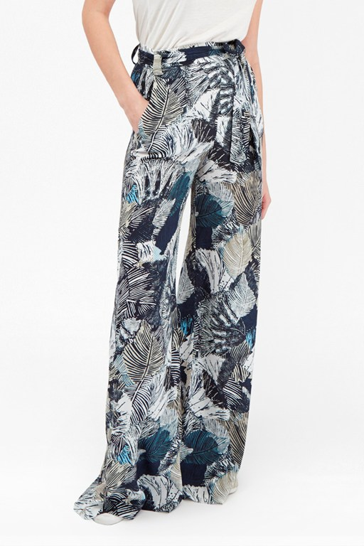 Complete the Look Lala Palm Drape Wide Leg Trousers