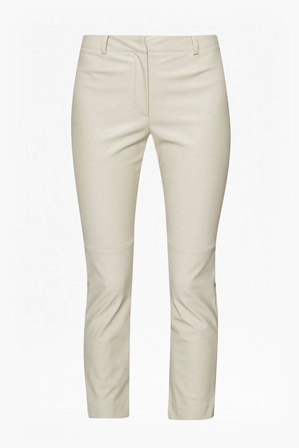 Atlantic Faux Leather Trousers - african stone