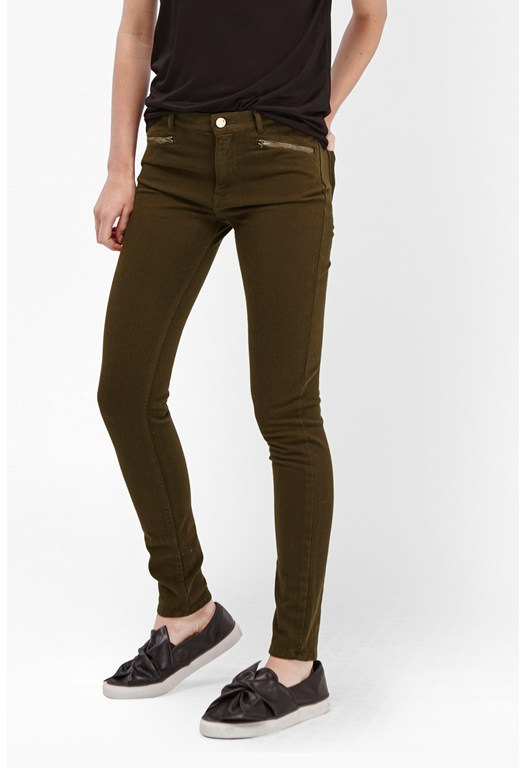Lilly Denim Zip Pocket Skinny Jeans