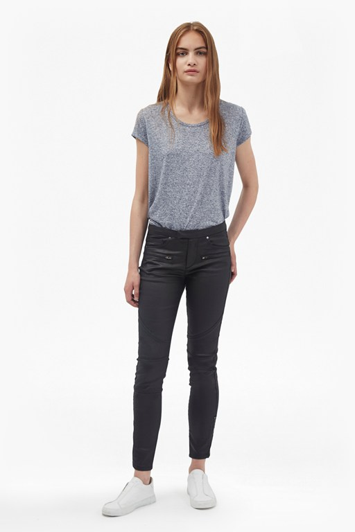 skinny leather look jeans