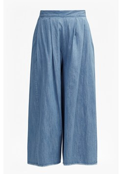 Cora Denim Cropped Flared Culottes