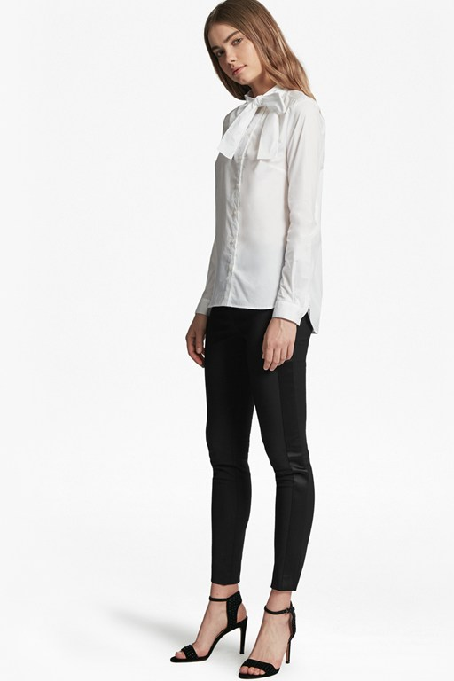 glass stretch skinny trousers