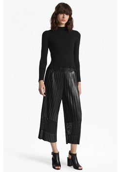 Viola Metallic Lace Panel Culottes
