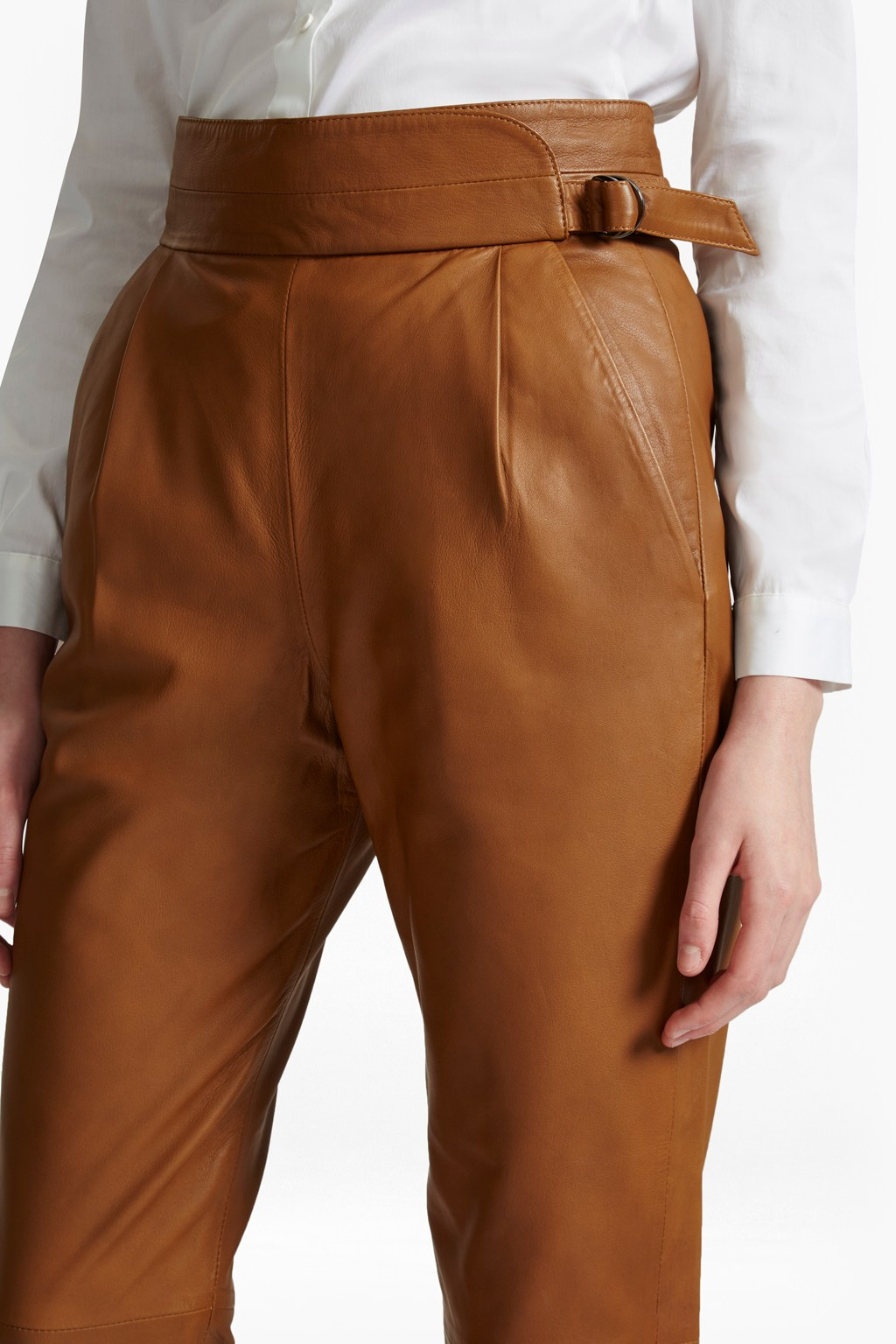 4222f29b956 Goldenburg High Rise Leather Trousers | Collections | French Connection