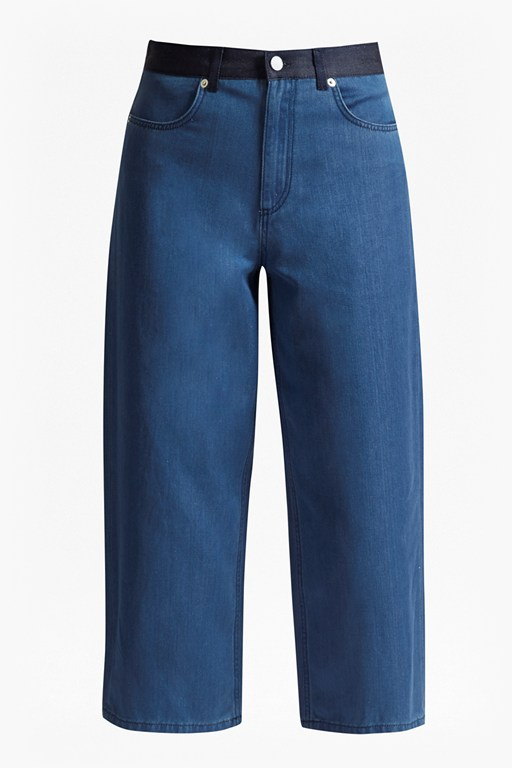 Complete the Look Wisteria Blue Denim Culottes