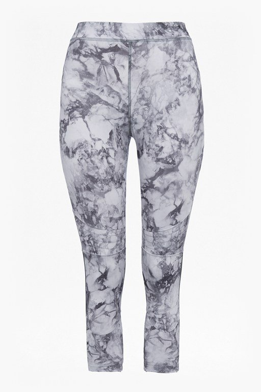 Complete the Look Comfort Stretch Marble Print Cropped Performance Leggings