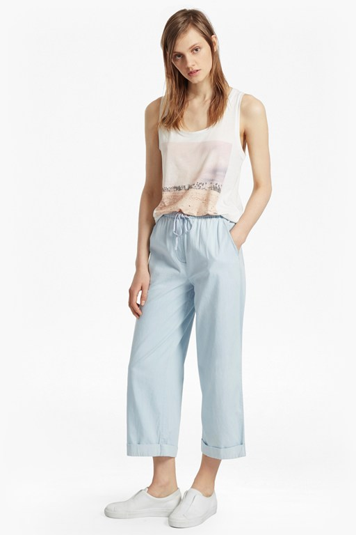 salt water denim culottes