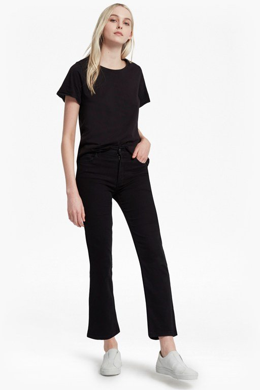 rebound cropped kickflare jeans