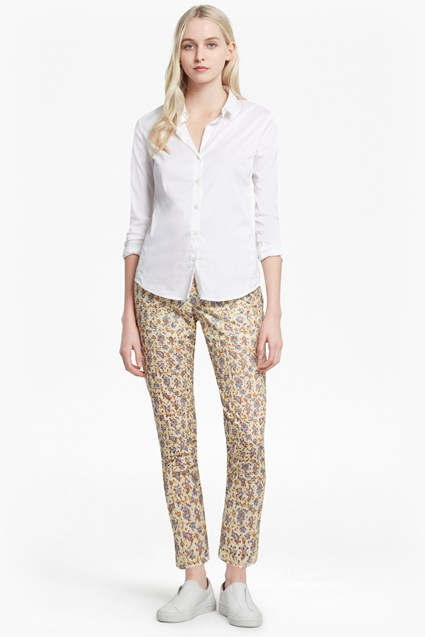 Niko Broderie Printed Cotton Trousers