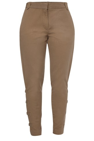 Cotton Twill Slim Trouser Grey, Green