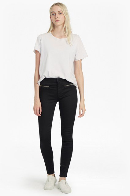 Power Stretch Zip Skinny Jeans