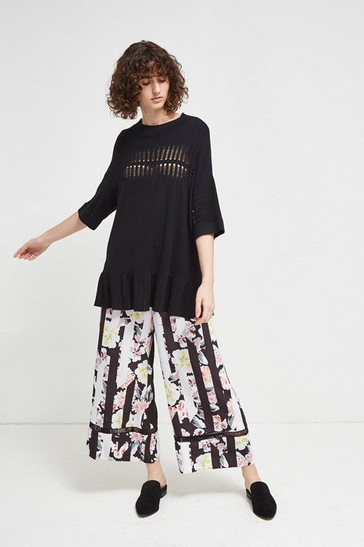enoshima suiting floral culottes
