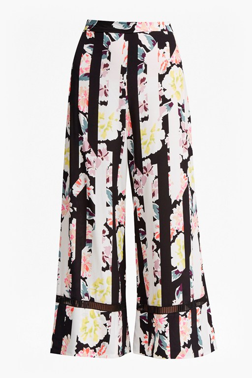 Complete the Look Enoshima Suiting Floral Culottes